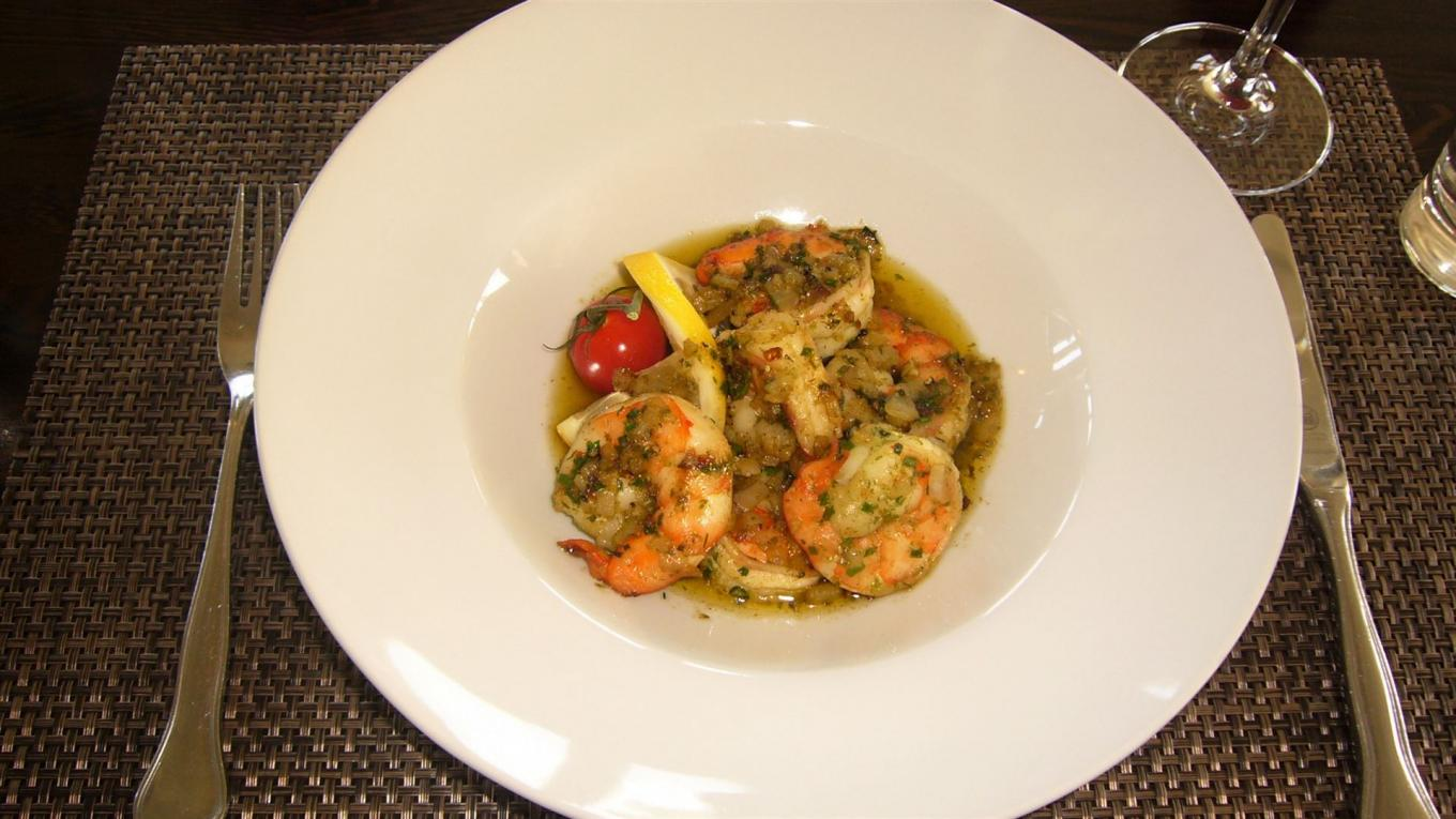 King prawns in garlic butter